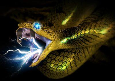 Serpiente enchufe amarilla