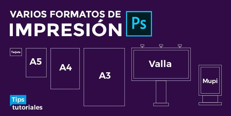 Varios formatos de impresión Photoshop | A4, Poster, Cartel, Valla, Mupi, Tarjeta