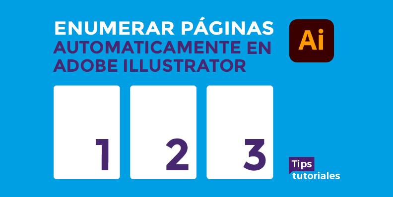 Enumerar páginas automáticamente en Adobe Illustrator | Plugin