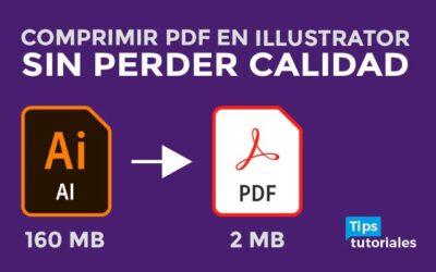 Comprimir PDF 📕 en Illustrator 👉SIN PERDER CALIDAD👈