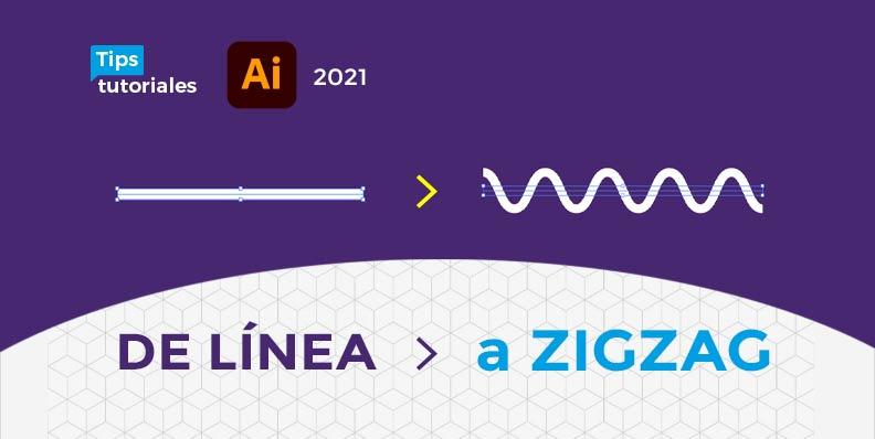 Transformar una línea a ZIGZAG o ONDULADA en Illustrator