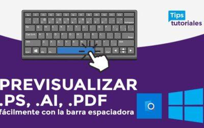 Previsualizar .ps, .ai, .pdf 🧐 fácilmente con la barra espaciadora 👍